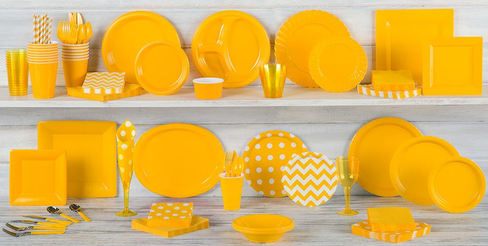 Sunshine Yellow Tableware