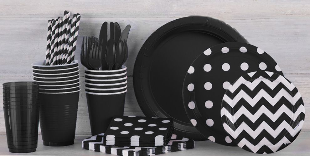 Black Tableware – 50% off Patterned Tableware MSRP