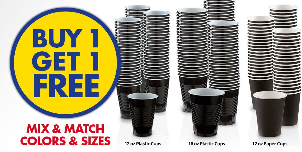 Buy 1 Get 1 Free – Mix & Match Colors &amp Sizes — Black Tableware