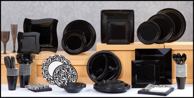 solid black tableware #1