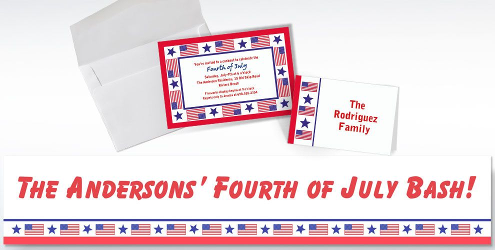 Patriotic Custom Invitations & Thank You Notes