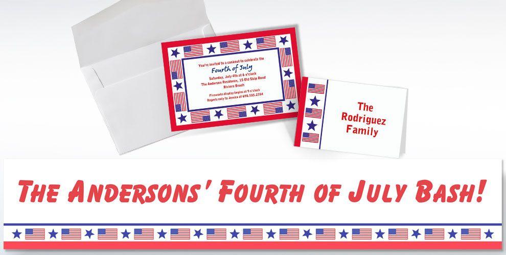 Patriotic Custom Invitations & Thank You Notes