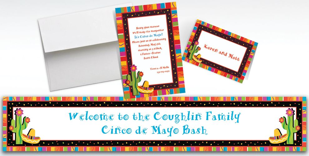 Fiesta Custom Invitations & Thank You Notes