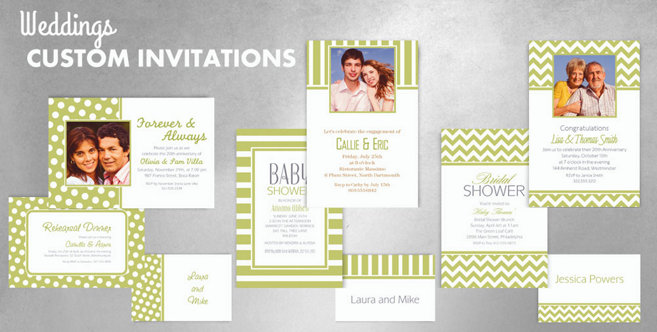 Leaf Green Wedding Custom Invitations and Banners #1