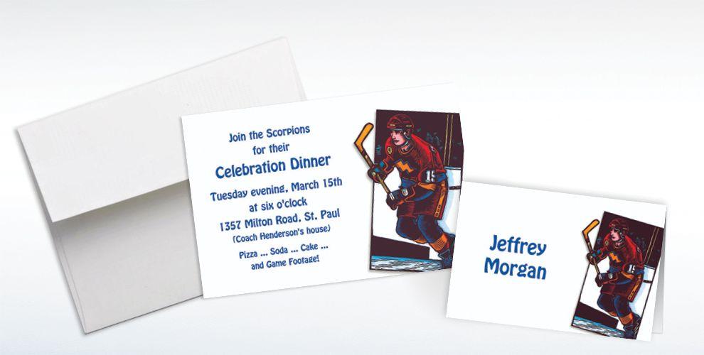 Hockey Invitations & Banners