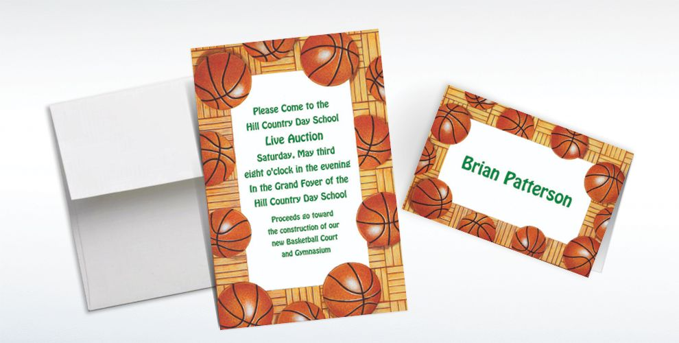 Basketball Invitations & Banners