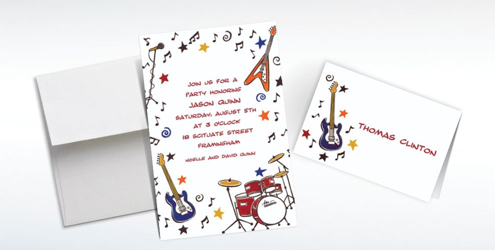 60's Theme Party Custom Invitations & Thank You Notes