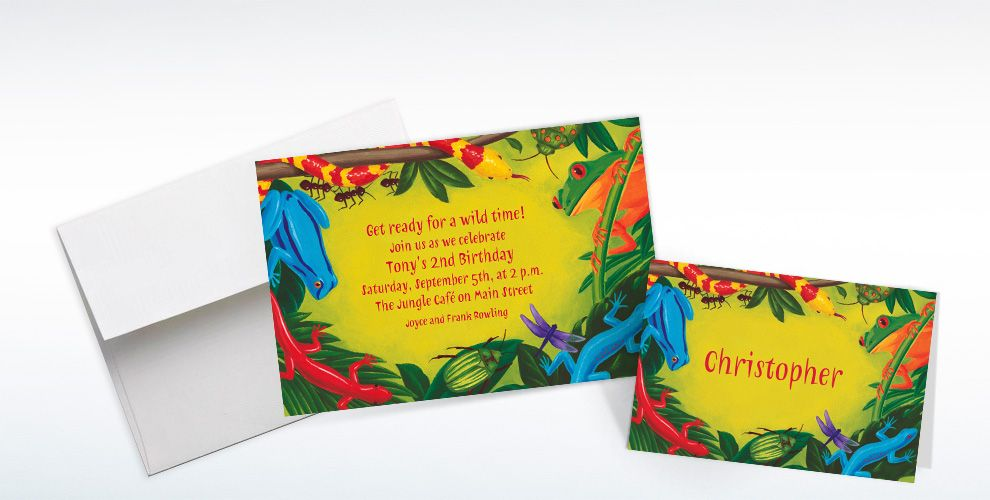 Bugs & Reptiles Custom Invitations & Thank You Notes