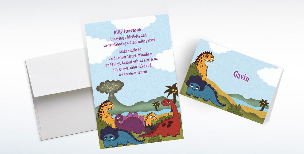 Dinosaurs Custom Invitations & Thank You Notes
