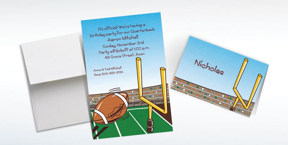 Football Invitations & Banners
