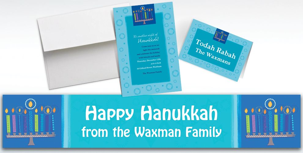 Hanukkah Invitations & Thank You Notes