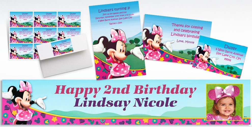 Minnie Mouse Birthday Invitations Personalized 1st
