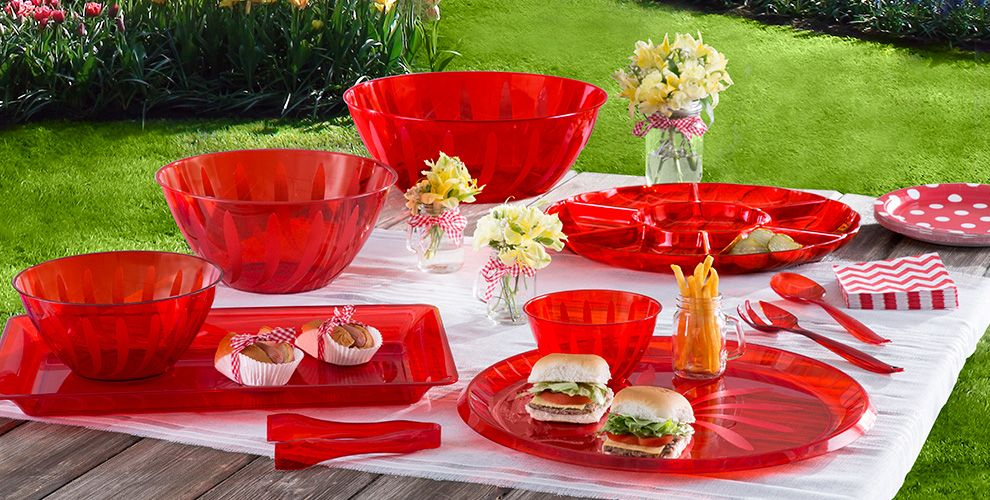Red Solid Color Tableware