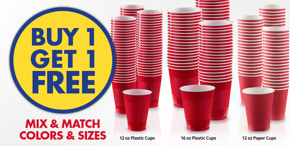 Buy 1 Get 1 Free – Mix & Match Colors & Sizes — Red Tableware