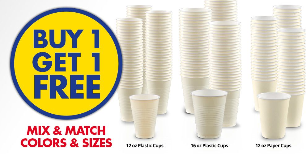 Buy 1 Get 1 Free – Mix & Match Colors &amp Sizes — Vanilla Cream Tableware