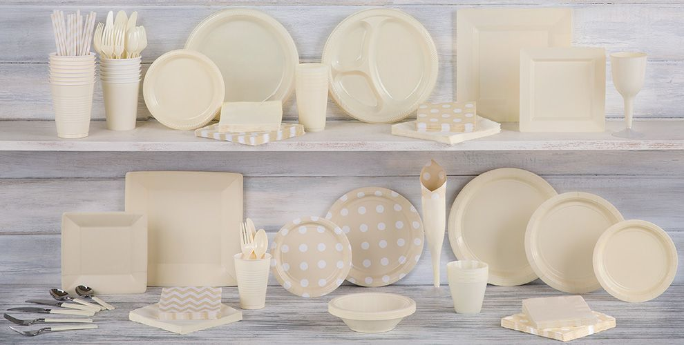 Vanilla Solid Color Tableware