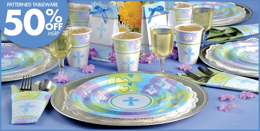 Blue Sweet Religious Party Supplies
