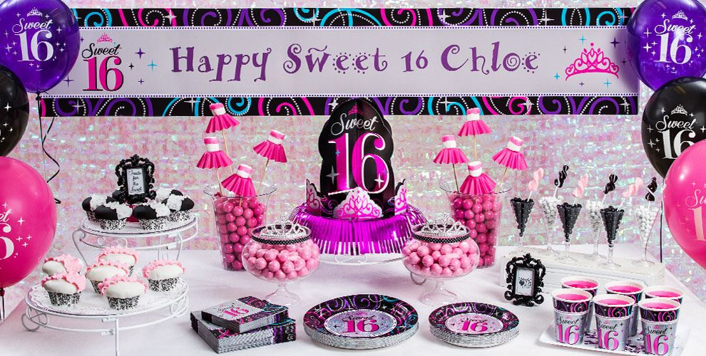 Sweet 16 sparkle party supplies sweet 16 birthday for 16 birthday decoration