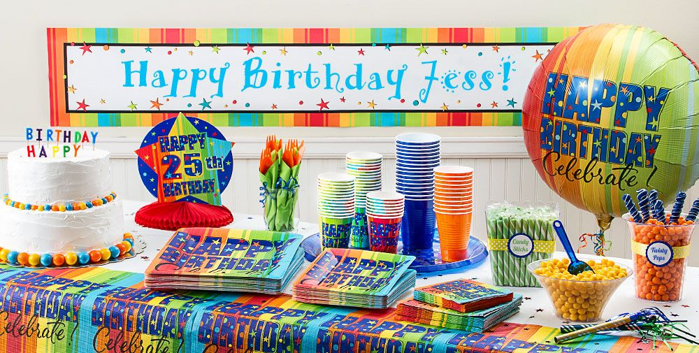 A Year To Celebrate Happy Birthday Party Supplies