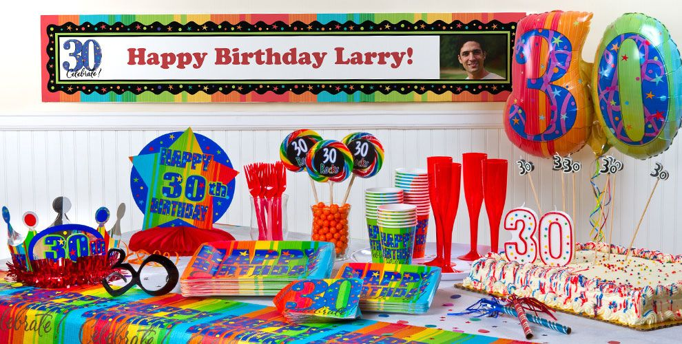 A Year To Celebrate 30th Birthday Party Supplies