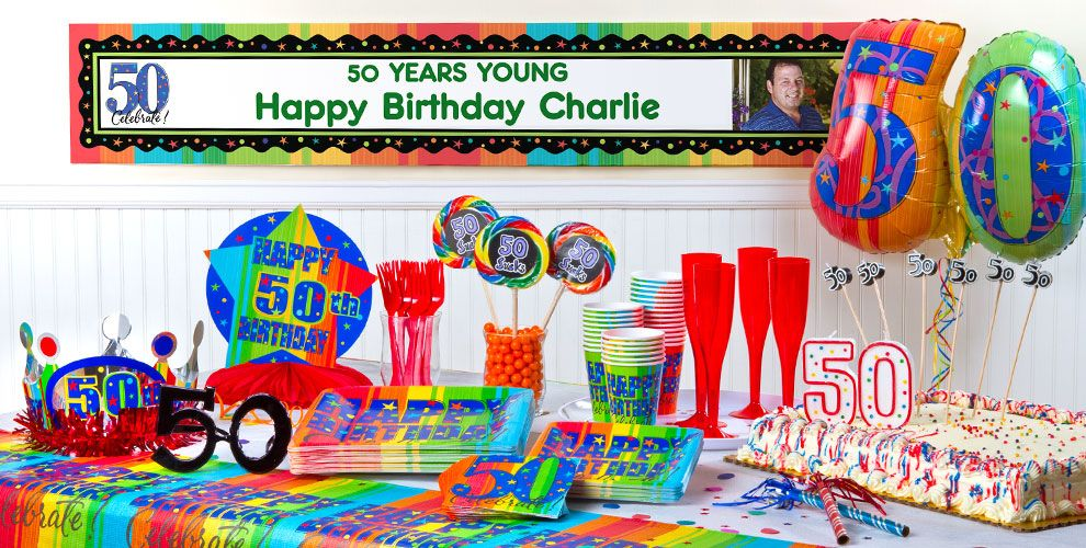 A Year To Celebrate 50th Birthday Party Supplies