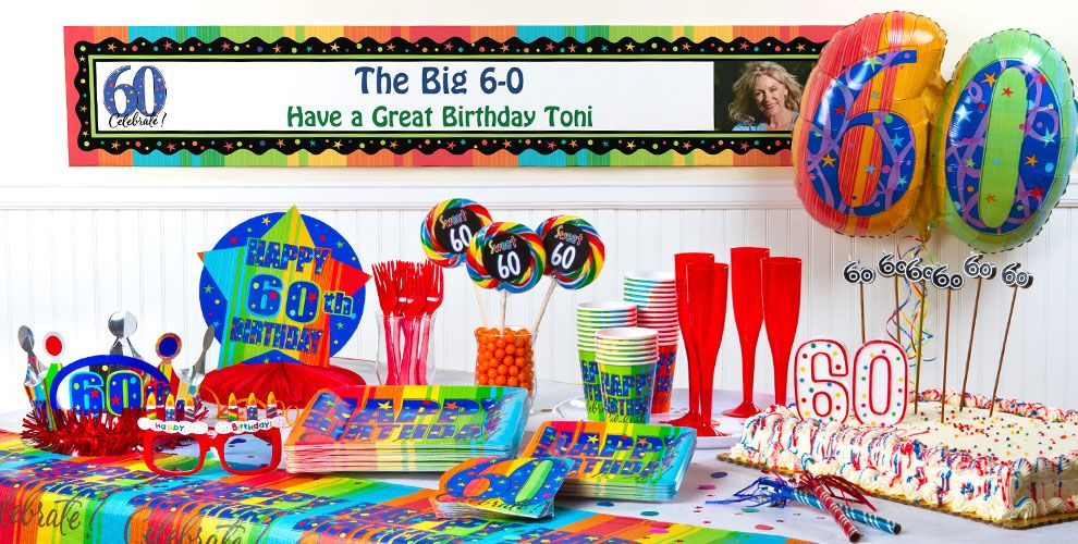 A Year To Celebrate 60 Party Supplies