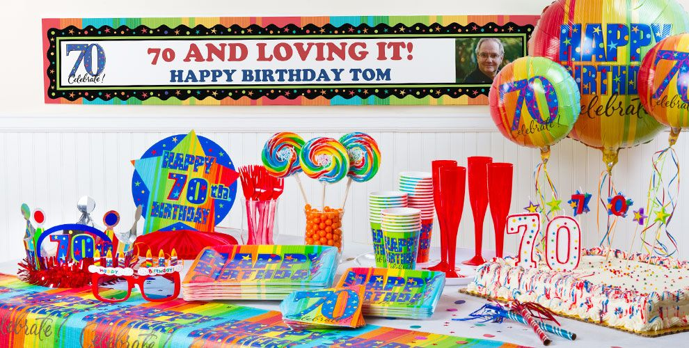 A Year To Celebrate 70th Birthday Party Supplies