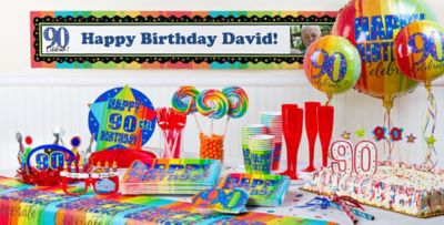 A Year To Celebrate 90th Birthday Party Supplies Party City Of 90th