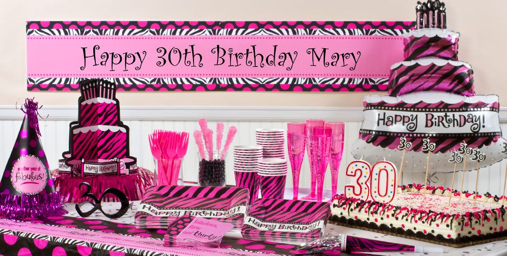 Oh So Fabulous 30th Birthday Party Supplies