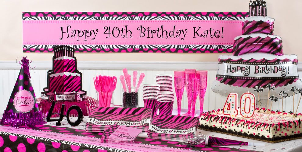 Oh So Fabulous 40th Birthday Party Supplies