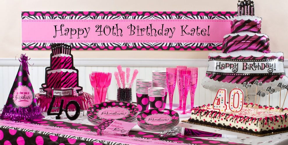Another Year of Fabulous 40 Party Supplies