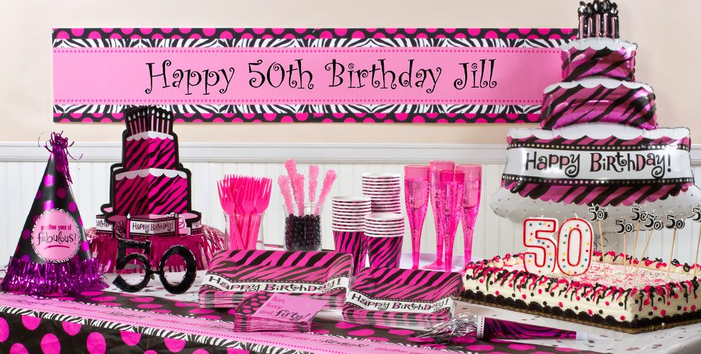 Oh So Fabulous 50th Birthday Party Supplies
