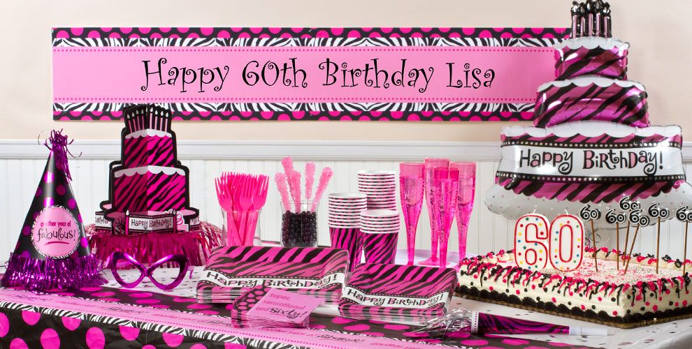 Oh So Fabulous 60th Birthday Party Supplies
