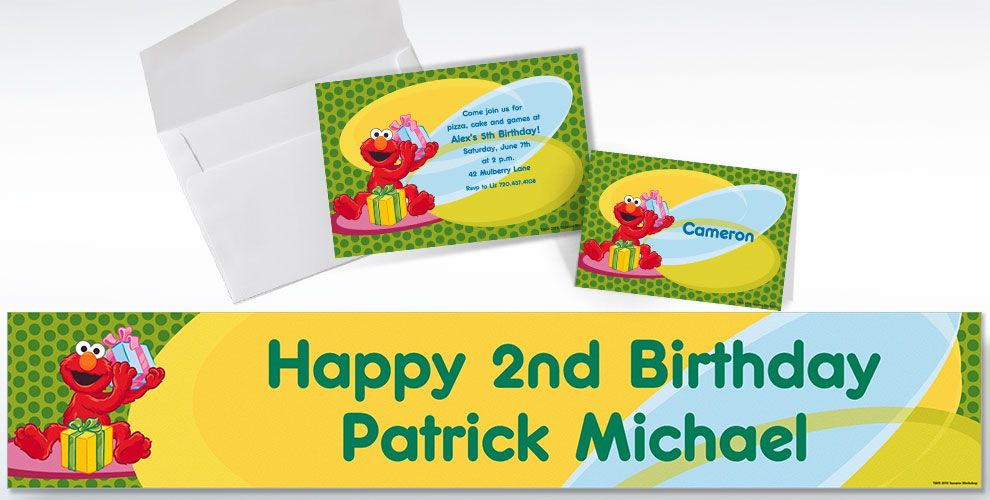 Elmo Custom Invitations & Thank You Notes