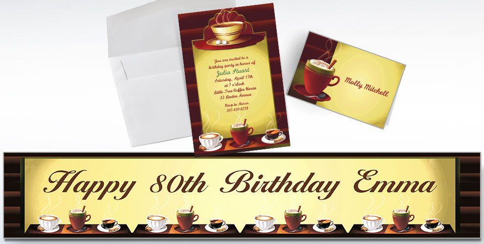 Café Invitations & Thank Yous