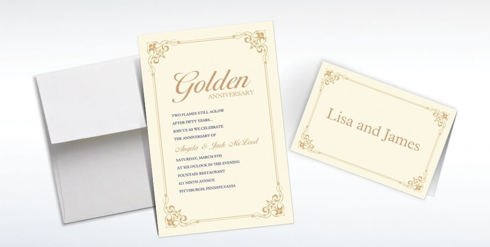 50th Anniversary Custom Invitations & Thank You Notes