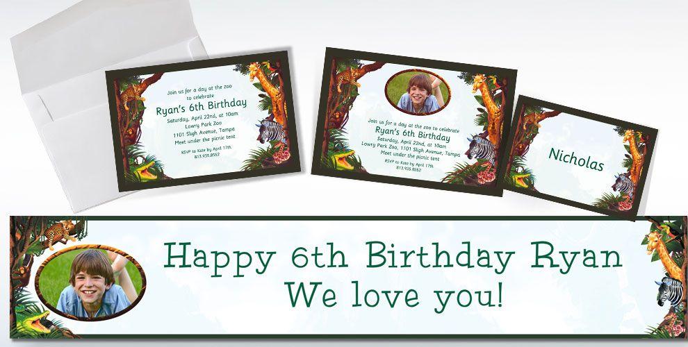 Jungle Animals Custom Invitations & Thank You Notes