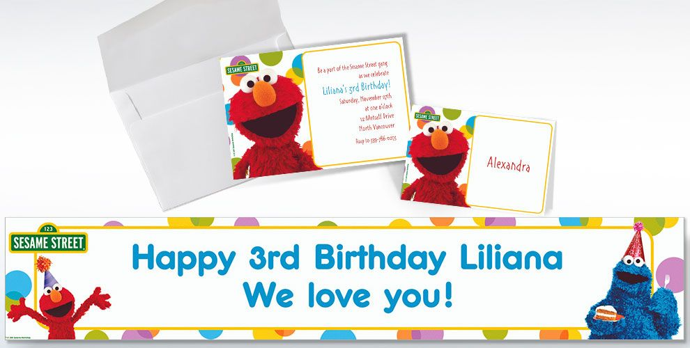 Sesame Street Custom Invitations & Thank You Notes
