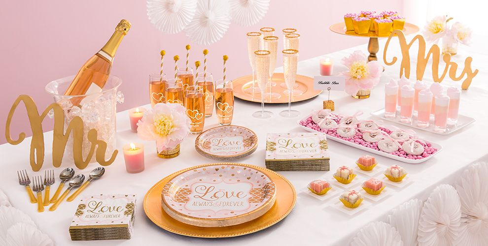 sparkling pink wedding party supplies party city