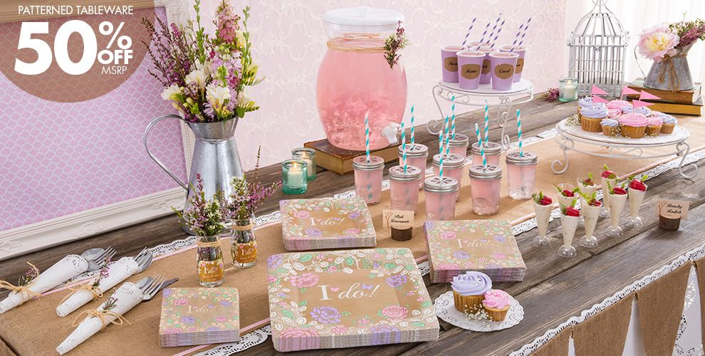 Lilac Patterned Tableware 50% Off MSRP