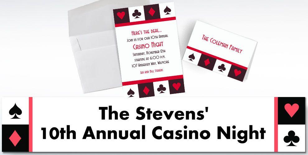 Casino Custom Invitations & Thank You Notes