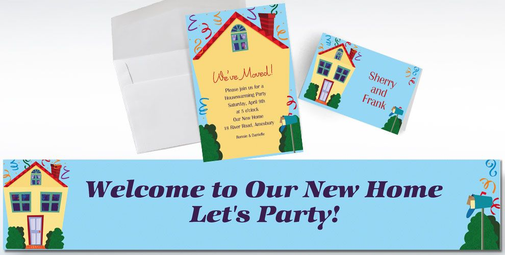 Moving & Housewarming Invitations & Banners