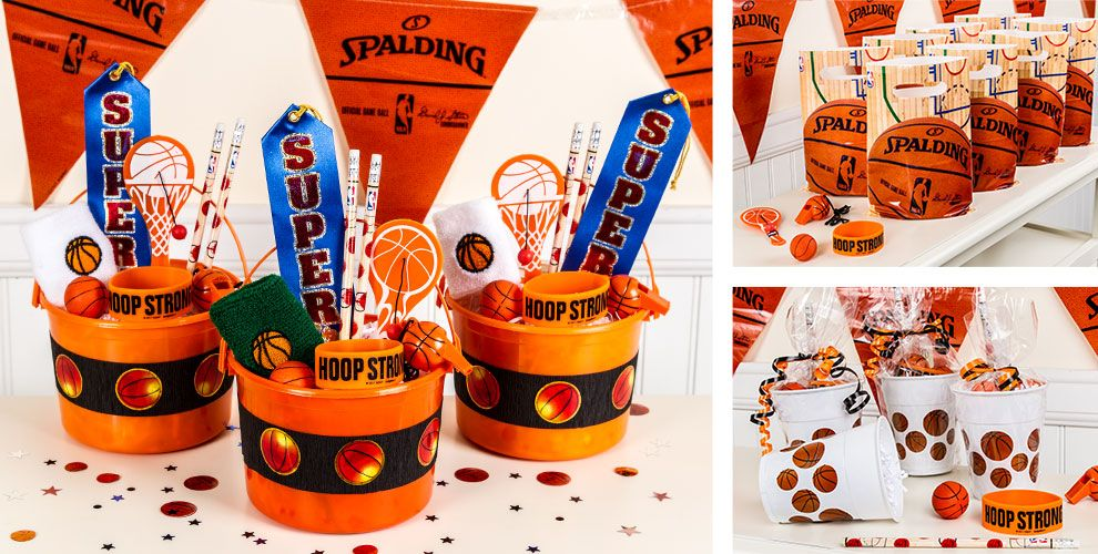Basketball Party Favors Whistles Bounce Balls Paddle