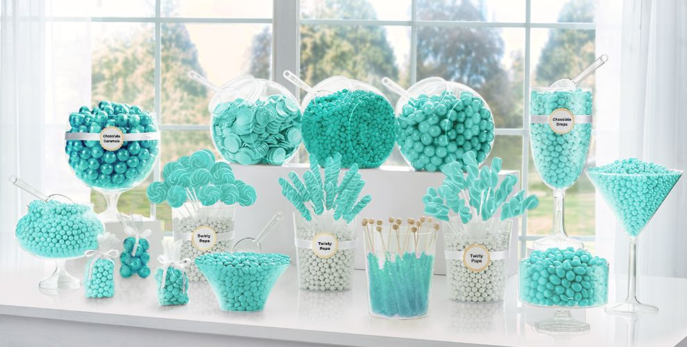 Robin's Egg Blue Candy Buffet Now with Chocolate