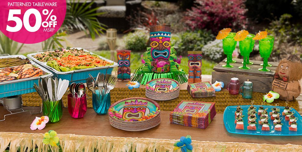 Tropical Tiki Party Supplies #1
