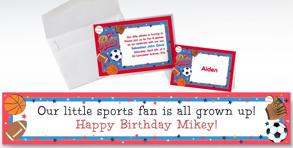 Little Champs Custom Invitations & Thank You Notes