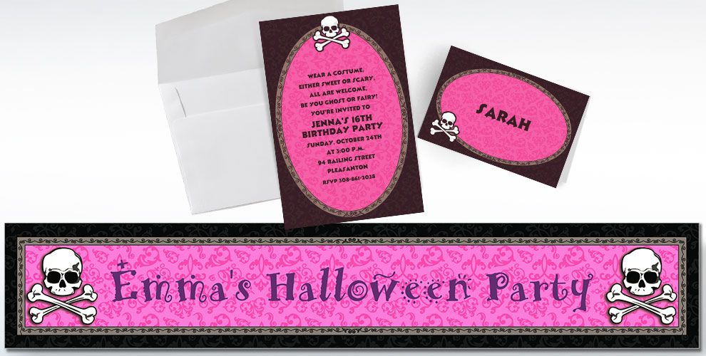 Pretty in Pink Invitations & Banners