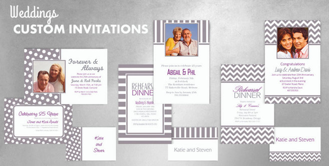 Silver Wedding Custom Invitations and Banners #1