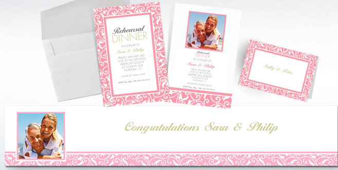 Pink Wedding Custom Invitations and Banners #2