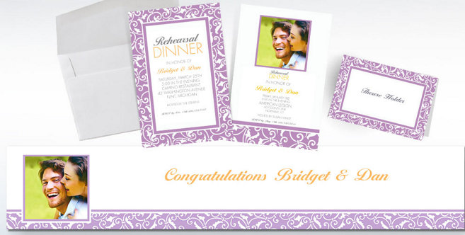 Lavender Wedding Custom Invitations and Banners #2